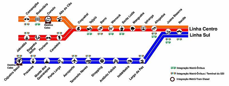 Recife Subway Map